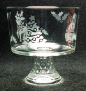 Glass Etching Fruit Bowl