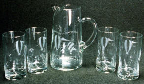 Pitcher & Glasses set, Boat